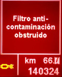 Filtro dpf fap testigo
