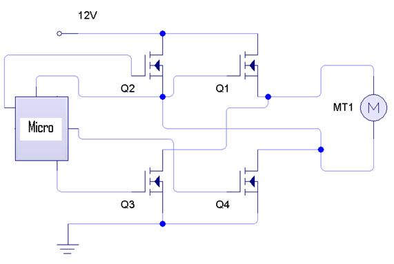 Transistores q1 q2 q3 q4