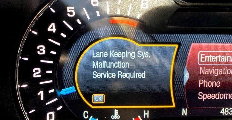 sistema ldws lane departure warning system